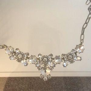 Gold tone and rhinestone costume necklace